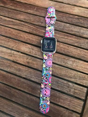 Silicone Sport Watch Strap For Apple Series 6 44MM Watchband