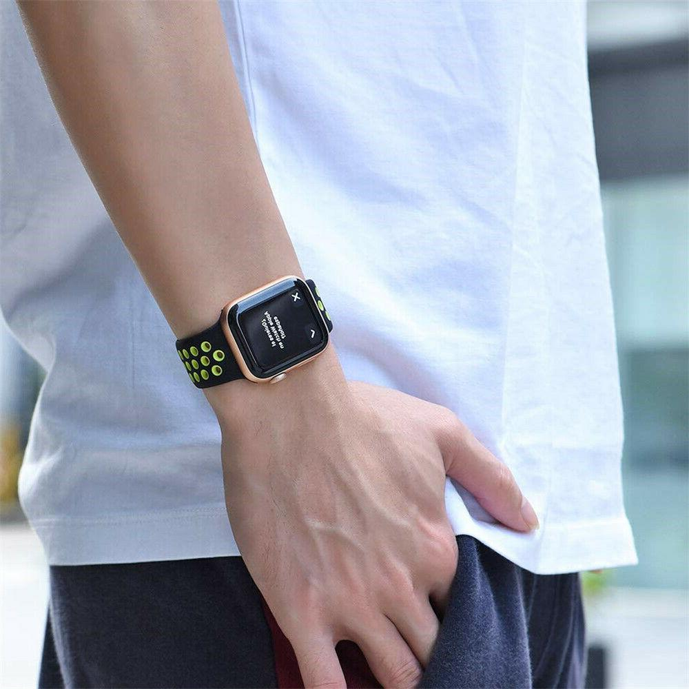 Silicone Sports iWatch Band Series 4 3 2