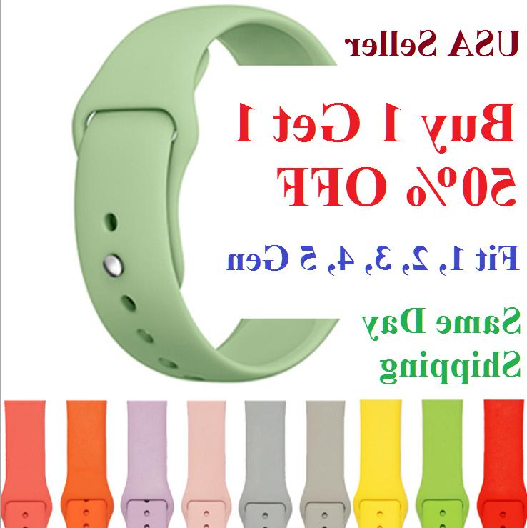silicone strap band for apple watch sports