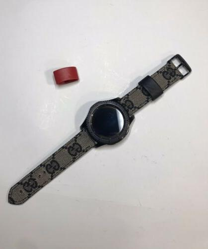 Samsung Gucci Band monogram Luxury Black And Red
