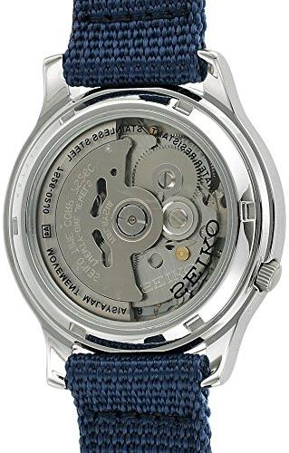 Seiko Men's SNK807 5 Watch with Blue Canvas Band