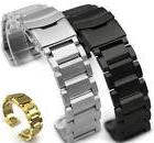 Stainless Steel 23mm Metal Replacement Watch Band Strap Doub