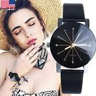 Fashion Women's Stainless Steel Analog Quartz Dial Leather L
