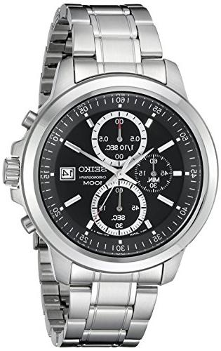 stainless steel chronograph watch sks445
