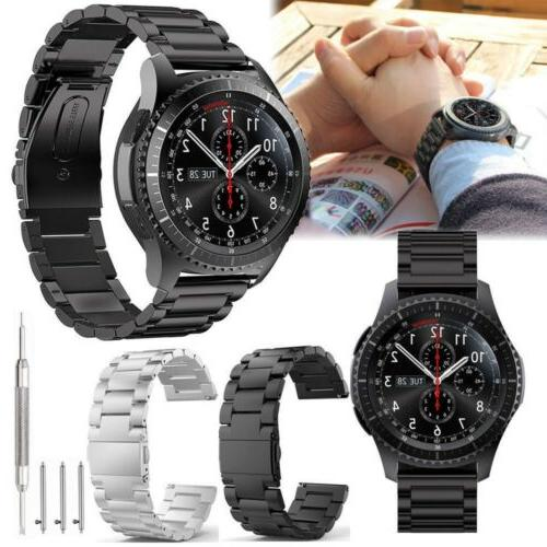 stainless steel strap watch band for samsung