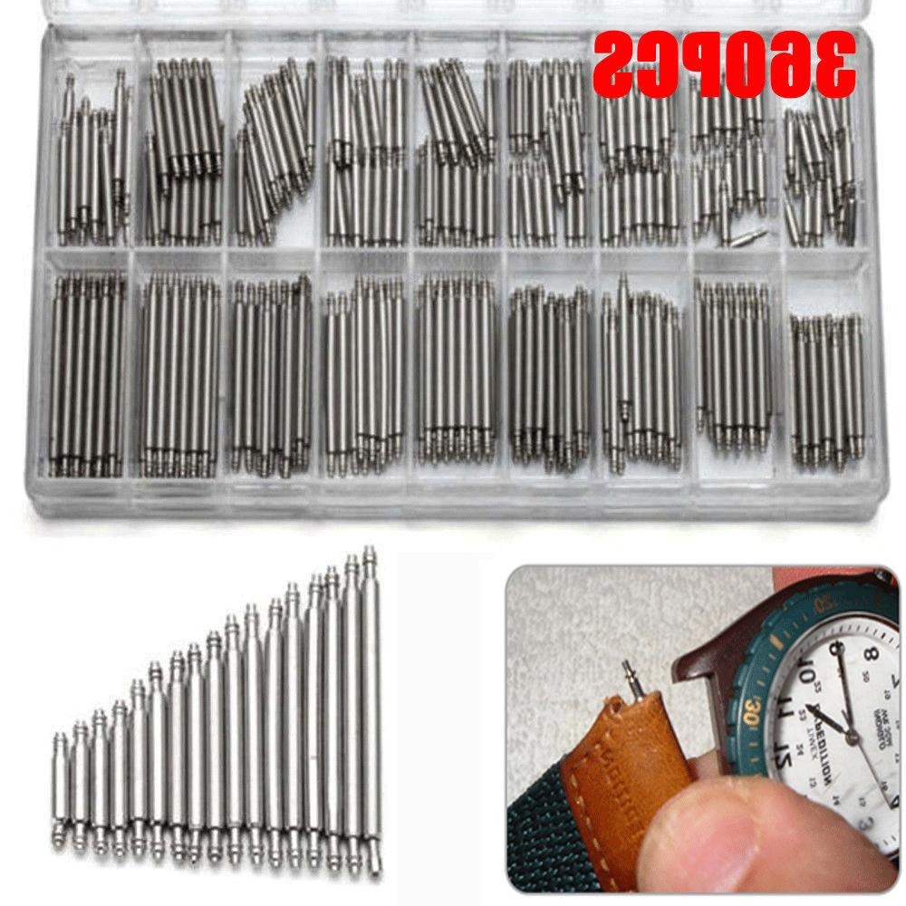 360pcs Stainless Steel Watch Band Spring Bars Strap Link Pin