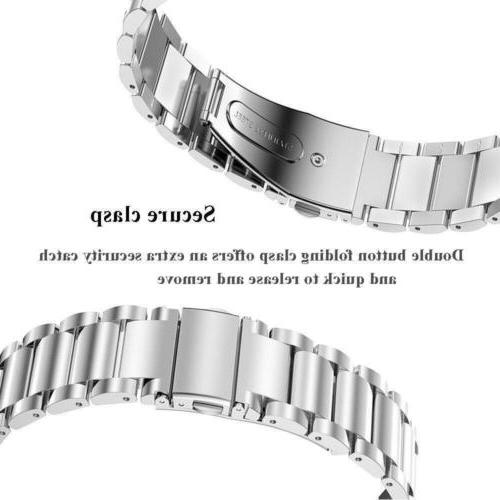 Stainless Watch For Gear Silver 22MM