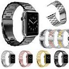 Stainless Steel Wrist Bracelet Clasp iWatch Band for Apple W