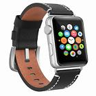 38mm Strap Band Genuine Leather For Apple Watch Series 2 iWa