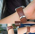 42mm Strap Band Genuine Leather Crocodile Pattern Apple Watc