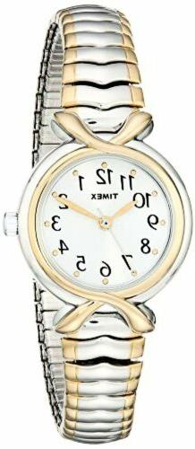 Timex Women's T21854 Pleasant Street Two-Tone Stainless Stee