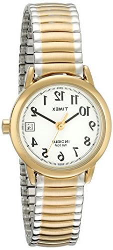 Timex Women's T2H381 Gold Stainless-Steel Analog Quartz Watc