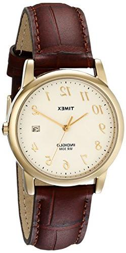 Timex Men's T2M441 Easy Reader Brown Croco Patterned Leather