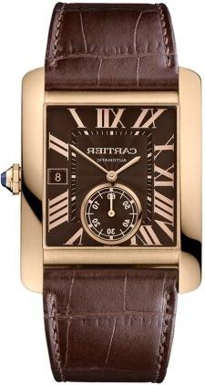 Cartier Tank MC Men's Automatic 18K Rose Gold with Chocolate