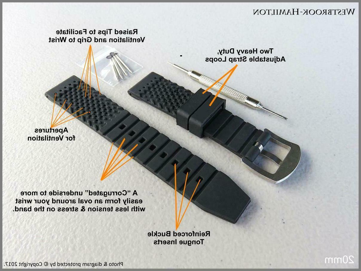 """""""The Softest, Strongest, Smartest, Bestest Watch Band"""" Sport Diver"""