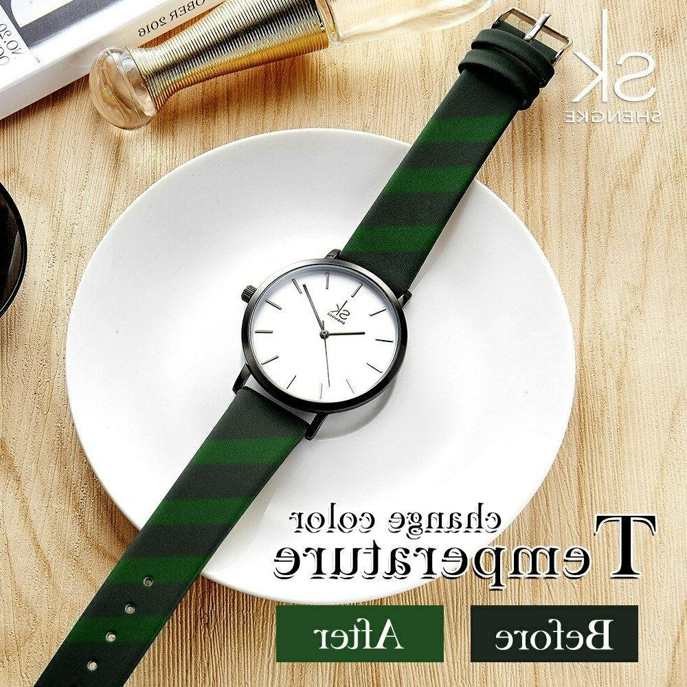 Top Casual Fashion Leather Analog