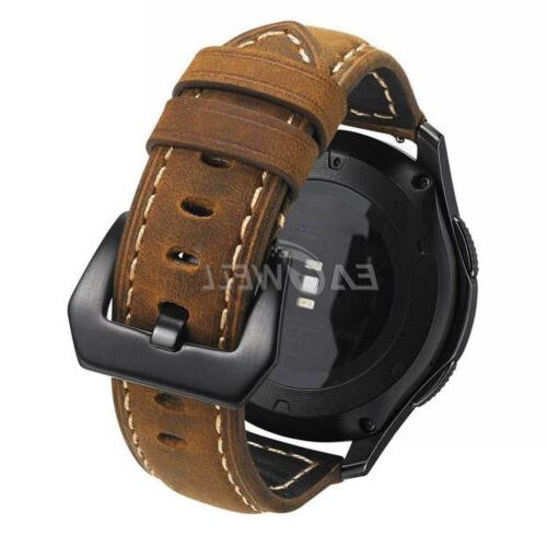 22mm Men Leather Replacement Wristwatch