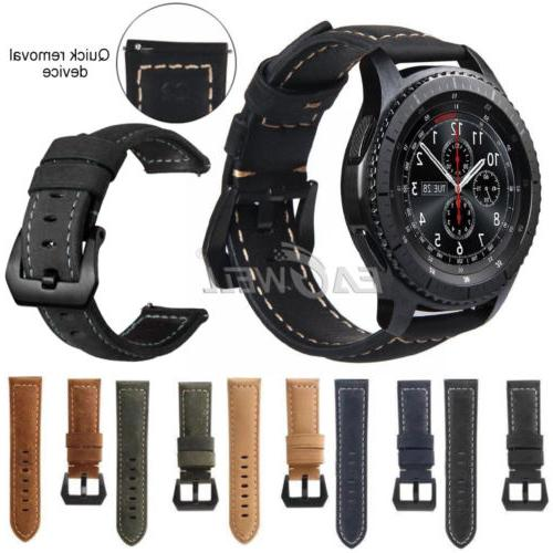 22mm Men Leather Watch Band Replacement Belt