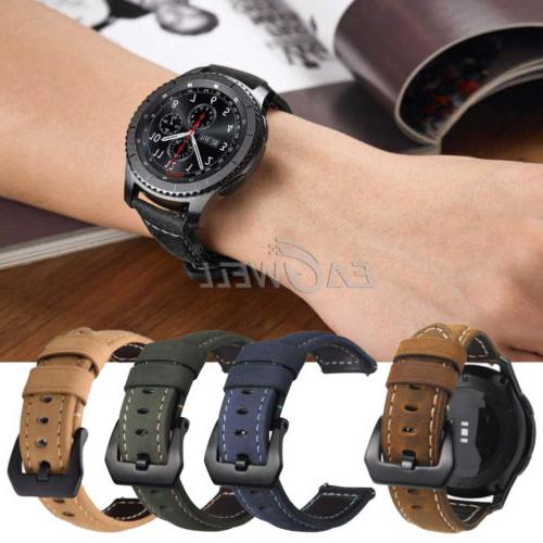 22mm Leather Strap Replacement Wristwatch Belt USA
