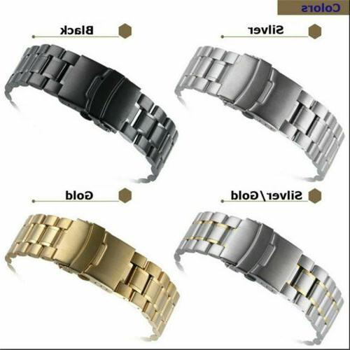 US Stainless Band Buckle Curved Ends Bracelet