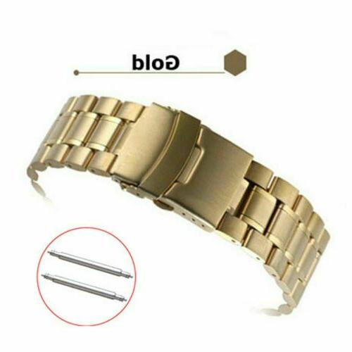 Band Double-Lock Curved Ends Bracelet