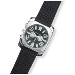 Men's Fashion Watch with Black Rubber Band