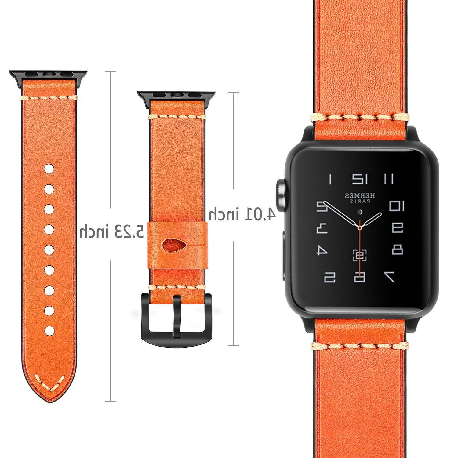 For 38mm 3 2 Series 1 Leather