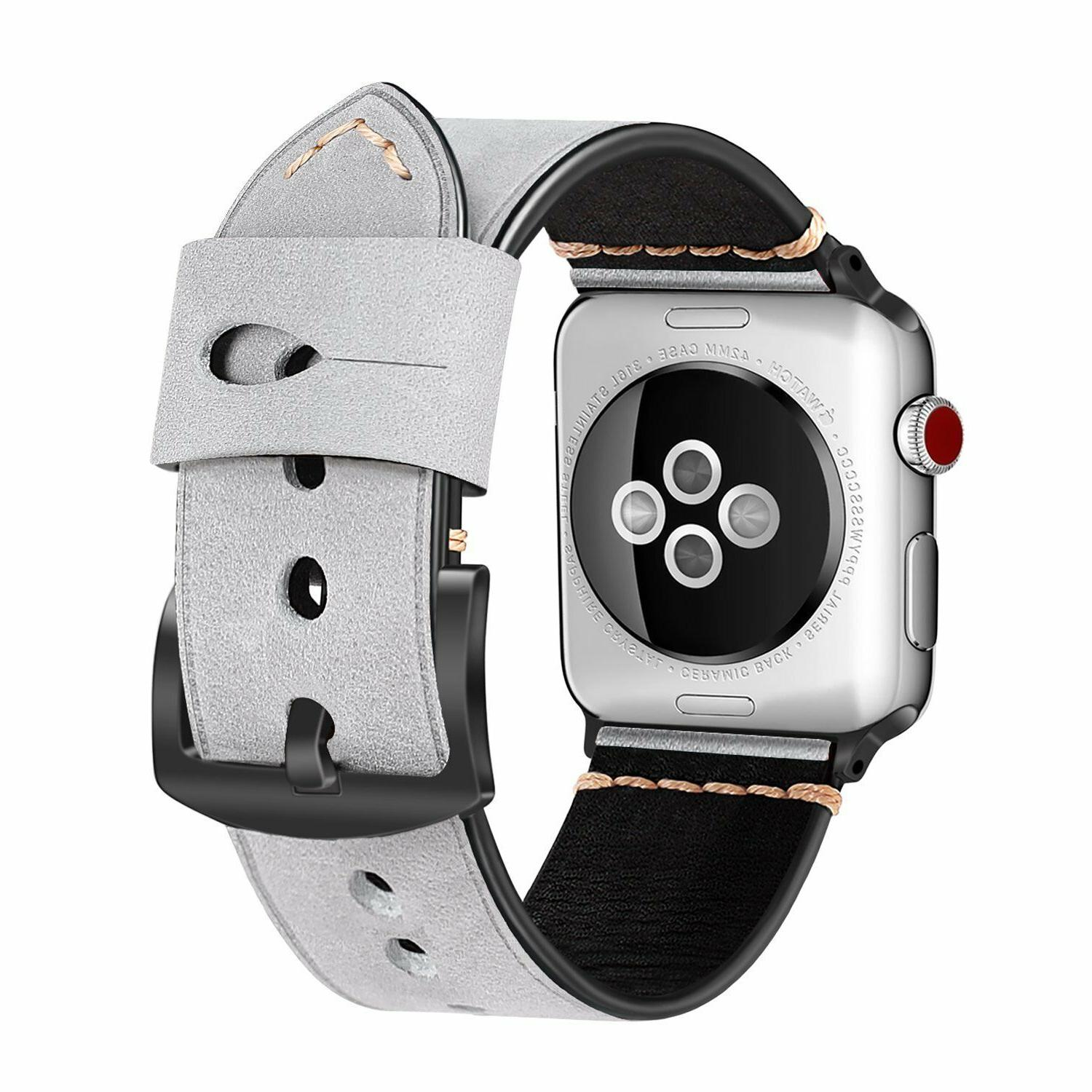 For Watch Band 38mm 2 Series 1 Genuine Leather Strap
