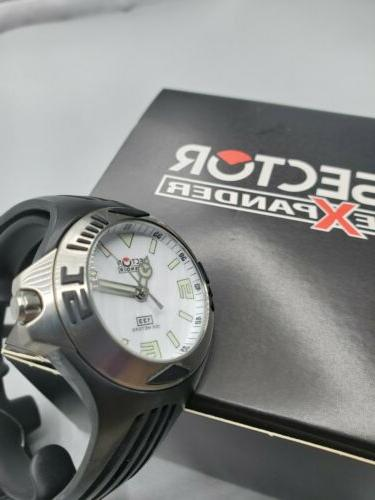 Sector Watch 133 Unisex White Dial Rubber Band box