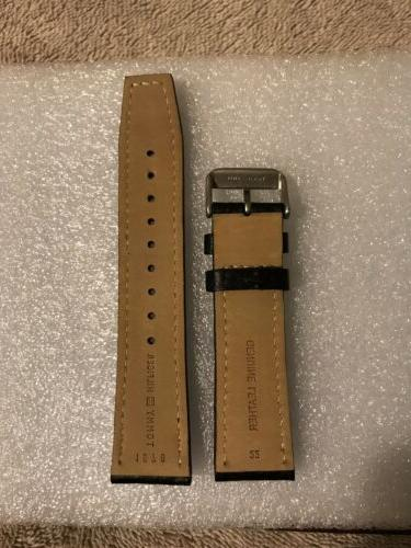 Tommy Hilfiger Watch Strap 22mm Black Leather