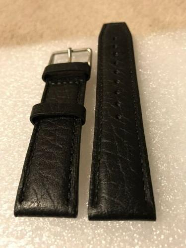 "Tommy Hilfiger Strap 22mm Black Leather ""Authentic"" 1978"