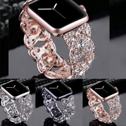 38/42/40/44mm Bling Diamond Band for Apple Watch Series 5 4