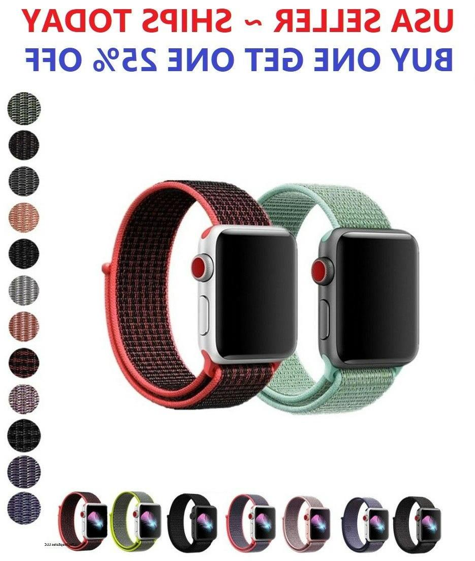 woven nylon band for apple watch sport