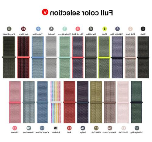 Woven Nylon For Apple Watch iWatch Series 4/3/2/1