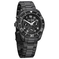 SO & CO Yacht Club Men's 42mm Black Steel Bracelet Metal Cas