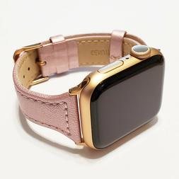 Leather Band for Apple Watch Series 6, 5, 4, 3, 2, and 1 for