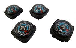 Type-III 4pc Liquid Filled Slip-on Compass Set for Watchband