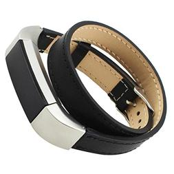 Womail Long Genuine Leather Double Tour Bracelet Replacement