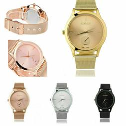 Luxury Quartz Watches Womens Stainless Steel Strap Band Anal