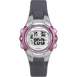 Marathon by Timex Women's Digital Mid-Size Watch, Gray Resin