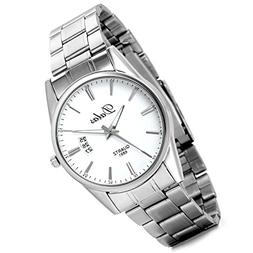 Lancardo Men's Business Silver Tone Stainless Steel Watch wi