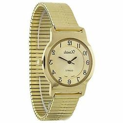 Men's Classic Slim Gold Tone Stretch Band Watch Watches