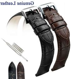 Men's Genuine Leather Watch Strap Band Buckle/Clasp 16mm 18m