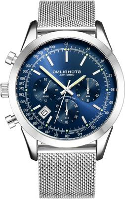 Stuhrling Men's Japan Quartz Chronograph Stainless Steel Mes