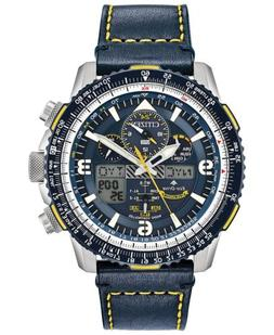 Citizen Men's Promaster Blue Angels Skyhawk A-T Leather Stra