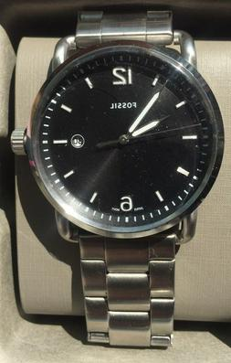 Men's Fossil The Commuter Stainless Steel Link Band Watch FS