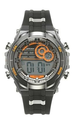 Armitron Mens Digital Watch Silver/ Orange Accents WR 330 Ne