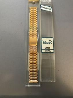 Speidel Men's Watch Band 1714/17 18mm Gold Plated Fold Ove