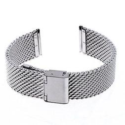 Ritche 20mm Mesh Stainless Steel Bracelet Wrist Watch Band S