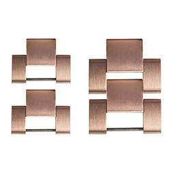 Wearlizer Metal Watch Band Links Replacement - Copper Gold